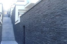 Brick, stone and tile cladding, for external spaces in retro-fit and new-build. Natural Stone Cladding, External Cladding, Stone Supplier, Slate Stone, Half Walls, Wall Cladding, House Extensions, Home Additions, Modern Wall