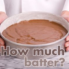 "Most boxed cake mixes have directions for baking in one 9"" round pan. But what if you want to bake in a square pan? Or, what if your favorite chocolate cake recipe needs to be turned into a large cake for a wedding? There are simple steps to determining the batter capacity for baking pans."