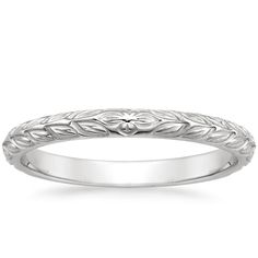 Garland Ring in 18K White Gold | Bride Wedding Band | Brilliant Earth
