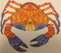 The crab from Millie Marotta's Tropical Wonderland.