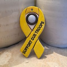 A yellow ribbon is used as a symbol of support for military forces & their families, especially those deployed overseas and in conflicts around the world. It is meant to represent hope.