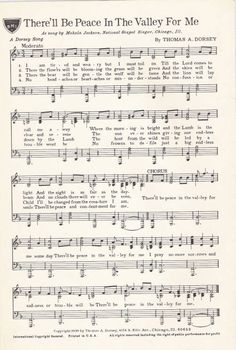 There'll be peace in the valley for me, 1939 :: Gospel Music History Archive This Is Gospel Lyrics, Great Song Lyrics, Music Lyrics, Music Songs, Hymns Of Praise, Praise Songs, Worship Songs, Christian Song Lyrics, Christian Music