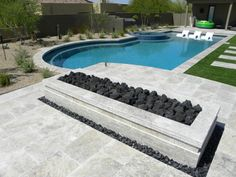 QDI in AZ Silver Travertine Paver Tumbled 6 Gray White Outdoor Floor Wall Pool Patio Backyard Tub Shower Vanity QDIsurfaces Small Swimming Pools, Luxury Swimming Pools, Small Backyard Pools, Backyard Pool Designs, Swimming Pools Backyard, Swimming Pool Designs, Outdoor Pool, Backyard Ideas, Outdoor Pergola