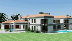 Modern 5 bedroom house plans with photos for sale. Find quality 5 bedroom double storey South African house designs, Simple 5 bedroom house designs and House Plan With Loft, House Plans With Photos, Simple House Plans, Beautiful House Plans, 6 Bedroom House Plans, Free House Plans, Tuscan House Plans, Ranch House Plans, Contemporary House Plans