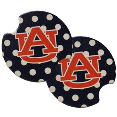 AU Polka Dot Car Coasters,  | Auburn University Bookstore