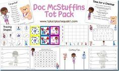Doc McStuffins Tot Pack ~ Printables for tots and preschoolers!