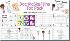 Doc McStuffins Tot Pack ~ Printables for tots and preschoolers!