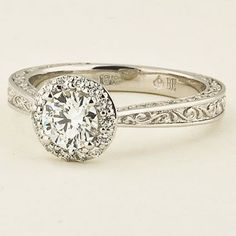 Vintage Halo Engagement Ring | Contessa | Brilliant Earth