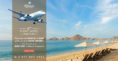 Vacation packages save you time, money and worries! ✈️🎉Plus we'll also throw in up to $600 USD in resort coupons. Toll-Free: 1.877.897.1951 #TravelTuesday #Cabo #Vacations #Sun Air Hotel, Vacation Packages, Resort Spa, Beach Resorts, Cabo, Vacations, Coupons, Villa, Sun