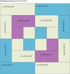 Use my easy Bento Box quilt pattern to sew Bento Box quilt blocks that finish at square. Make unique quilts with this beginner friendly pattern.: Patch Sizes to Sew Bento Block One Piece at a Time Try my Double Nine Patch quilt block pattern to make a qui Quilting For Beginners, Quilting Tutorials, Quilting Projects, Quilting Designs, Quilting Tips, Sewing Projects, Baby Quilt Tutorials, Jellyroll Quilts, Patchwork Quilting
