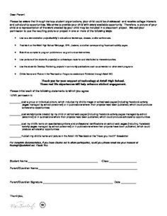 Student Contract Form  Classroom Management
