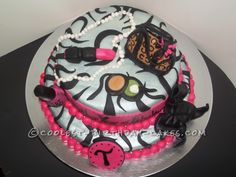 Coolest Glamour Birthday Cake for a Fabulous Friend... This website is the Pinterest of birthday cake ideas