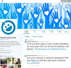 Charity Choice twitter @charity_choice www.twitter.com/charity_choice