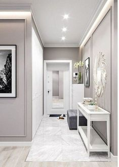 Ideas Interior Design Inspiration best gray paint colour benjamin moore revere pewter is a soft and light gray colour. Looks best with dark wood . Hallway Decorating, Entryway Decor, Interior Decorating, Interior Design Inspiration, Home Interior Design, Design Ideas, Casa Pop, Best Gray Paint Color, Grey Paint