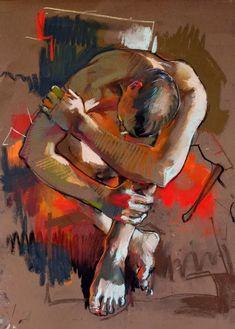 Por amor al arte: Crawfurd Adamson Pastel Drawing, Pastel Art, Figure Painting, Painting & Drawing, Life Drawing, Pinturas Color Pastel, Posca Art, Pastel Portraits, Art Of Man