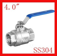 """127.50$  Watch here - http://aliejv.shopchina.info/1/go.php?t=1535615850 - """"New arrival DN100 4.0""""""""  SS304 female 2-pc internal thread ball valve for water,oil and gas"""" 127.50$ #magazineonlinewebsite"""