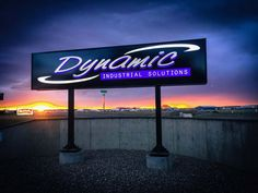 LED lit pylon with dimensional lettering by Speedpro Signs Medicine Hat! Outdoor Signage, Medicine, Neon Signs, Hat, Lettering, Canning, Exterior Signage, Medical, Hats