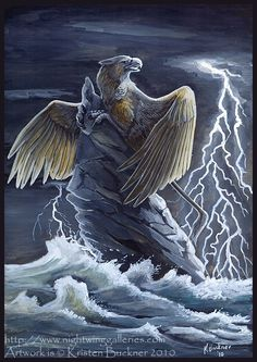 Gryphon Tarot: The Tower by silvermoonnw on DeviantArt