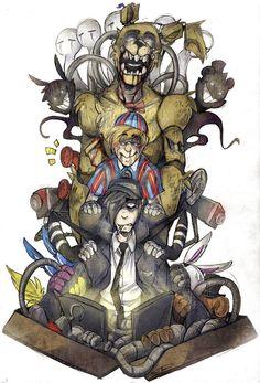 Drawing (c) Me FNaF © Scott Cawthon/Games Springtrap Five Nights At Freddy's, Freddy S, Animatronic Fnaf, Good Horror Games, Fnaf Characters, Fnaf Drawings, Fnaf Sister Location, Anime Fnaf, Freddy Fazbear