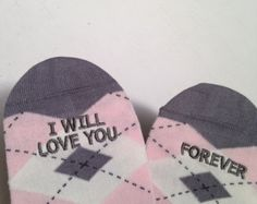 Check out Argyle Grooms Socks 'I Will Love You Forever'™ Wedding Gift, Anniversary Gift, Wedding Socks, Groom Accessory on groomsocks