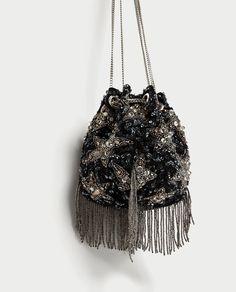 Prepare to Fall In Love With Olivia Palermo's Zara Bag Trendy Handbags, Purses And Handbags, Potli Bags, Zara Bags, Boho Bags, Embroidered Bag, Beaded Bags, Cute Bags, Pouch Bag