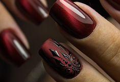 Modern Nails, Fingernail Designs, Sexy Nails, Nail Art, Beautiful, Hair, Ongles, Nail Arts, Nail Designs