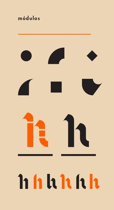 Neogothic, my first modular typeface by Ales Santos, via Behance