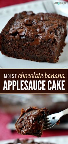 Easy Chocolate Desserts, Chocolate Recipes, Easy Desserts, Chocolate Applesauce Cake Recipe, Chocolate Cakes, Baking Desserts, Cake Baking, Health Desserts, Easy Cake Recipes