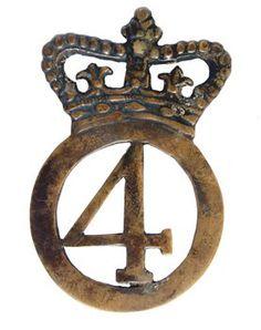 British; 4th Regiment of Foot (King's Own), Cartridge Box Badge, c. 1777. This…