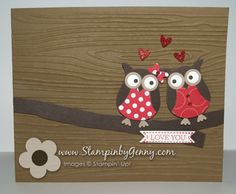 Stampin Up! owl valentine's day card