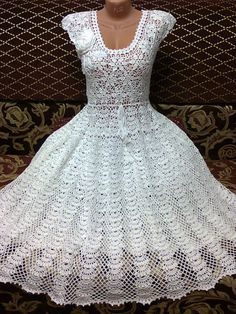 liveinternet ru images attach c 9 105 230 jpg This Pin was discovered by Jos hand-made crochet dress Pull Crochet, Crochet Lace, Crochet Blouse, Knit Dress, Crochet Designs, Crochet Patterns, Crochet Wedding Dresses, Crochet Dresses, White Homecoming Dresses