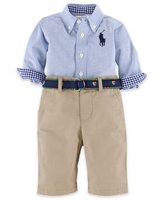Ralph Lauren Baby Set, Baby Boys 2-Piece Oxford Shirt and Pants