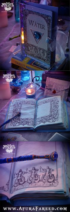 """""""Mermaid Magick"""" handcrafted water element book of shadows by GypsyWytch Diaries $55.55"""