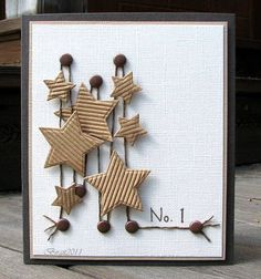 Number One by Biggan - Cards and Paper Crafts at Splitcoaststampers Cute Cards, Diy Cards, Star Cards, Card Tags, Card Kit, Masculine Cards, Paper Cards, Creative Cards, Greeting Cards Handmade