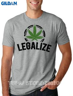 ffdee3277cf Summer Fashion New Men Legalize Weed O-Neck Short-Sleeve T-Shirts