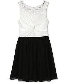 BCX Girls' Black and White Dress