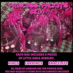 Does a little princess you know have a birthday coming up? Need to fill goody bags? Here's the perfect idea! Order at least a week in advance. Paparazzi Display, Paparazzi Jewelry Displays, Paparazzi Accessories, Little Girl Jewelry, Kids Jewelry, Ladies Jewelry, Paparazzi Jewelry Images, Story Starter, Paparazzi Fashion