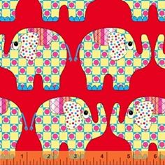 Elephants in Red - Melly  Little Menagerie Series