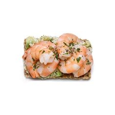 Shrimp Stack ❤ liked on Polyvore featuring food, fillers, food and drink and comida