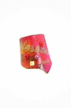 Leather Couture by Jessica Galindo Classic Freeform Cuff--Blessed Soul #accessories  #jewelry  #bracelets  https://www.heeyy.com/leather-couture-by-jessica-galindo-classic-freeform-cuff-blessed-soul-pink-orange/