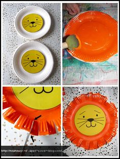 ( assiette en carton ) Source by aasquer Preschool Art Activities, Animal Activities, Animal Crafts, Christmas Crafts For Kids, Diy Crafts For Kids, Projects For Kids, Cardboard Crafts Kids, King Craft, Daniel And The Lions