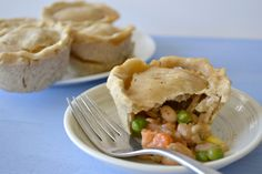 Vegetable Pot Pie Cupcakes! So mini and perfect, and gluten-free too.