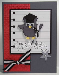 super cute, but I actually pinned this for the notebook paper background. great idea for a graduation card.