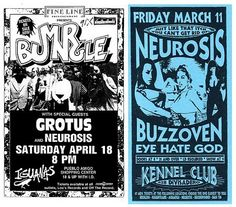 Grotus, Neurosis, Eyehategod, Mr.Bungle...