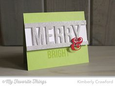 Merry Messages, Ampersand Die-namics, Merry Die-namics - Kimberly Crawford #mftstamps
