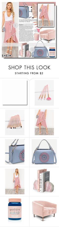 """""""Contrast Binding Self Tie Asymmetric Ruffle Skirt"""" by fashiondiary5 ❤ liked on Polyvore featuring Lime Crime, Bella Freud and shein"""