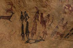 Mujeres representadas en las pinturas rupestres de la Roca de los Moros o Cuevas de El Cogul.