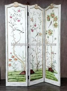 Home Decor Room Wall Cheap Room Divider Privacy Screen 3 panel Wood
