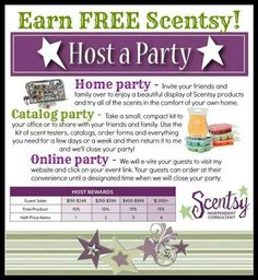 Host a Scentsy party! Contact me to schedule yours. www.livoniabecker.scentsy.us