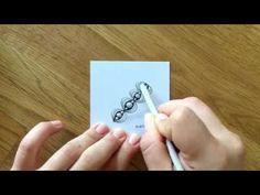 10 Zentangle® Patterns in Time-Lapse (Speed Drawing) #11 - YouTube